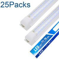 ضوء متجر LED، شكل V، غطاء واضح، إخراج هايت، أضواء متجر قابلة لللقب، الأسهم في الولايات المتحدة، أضواء متجر LED للمرآب 8 قدم، الولايات المتحدة الأمريكية