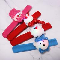 Regalo di Natale Led Natale Pat Circle Bracciale Babbo Natale Pupazzo di neve orso cervo Braccialetto giocattolo Xmas Decorazione Ornamento