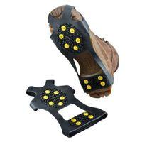 المضادة للانزلاق حذاء الثلوج الجليد القابض سبايك المربط كلاب (الحجم: S / M / L / XL) مع الجلد التعبئة 10 ترصيع الصلب