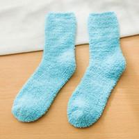Chaussettes femmes Fuzzy chaud Fluffy chaussette Grossistes chaussettes thermiques américaines d'hiver