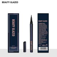 Güzellik Camlı Sıvı Eyeline Kaş Kalemi Toptan derece Siyah Hızlı Hızlı Kuru Su geçirmez Makyaj Manyetik Eyeliner