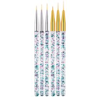 Nail Art Liner Pinsel Sequin Griff Malerei Blumen Zeichnung Französisch Linien Gitter-Streifen-Acryl-Gel-Feder DIY Maniküre Werkzeuge JK1912