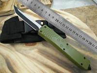AUTO poignée verte Benchmade BM3300 BM3500 A07 UTX85 couteaux de combat clip double action outil de coupe de camping couteau pliant tactique de poche EDC