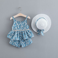 Designer baby Girl Kids Summer Clothing Sets Full Flower Pri...