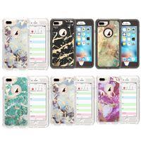 Für Iphone 11 Fall 3 in 1 Marmor-Verteidiger-Fall für Iphone XS MAX XR X 6 7 8 Plus 11 Pro Max löschen Hybrid Cover-Rückseite