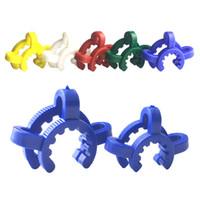 Kunststoff Keck Clip mit 10mm 14mm 19mm Weiß Blau Rot Buntes Labor Labor Clamp Clip für Glasadapter Bong Hersteller Verbinden Sie Wasser