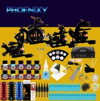 Professional Tattoo Kit 4 Tattoo Machine Gun 10 Color Inks B...