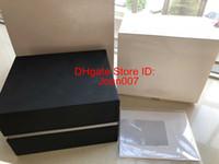 IWC 시계 박스 상자 최고 품질 블랙 원래 상자 남자의 여자의 시계 상자 남성 손목 시계 상자와 인증서
