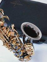 YANAGISAWA S-991 BbTuen kavisli soprano saksafon aletleri Süper Profesyonel Ağızlık Siyah Nikel Altın ile vaka