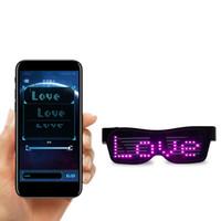 Personnalisable Lunettes LED Bluetooth pour Raves, Festivals, Divertissement, fête, le sport, costumes, EDM, clignotant - Messages d'affichage, Dessins