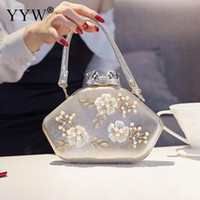 Designer- Vintage Evening Clutch Bag Chic Appliques Bridesma...