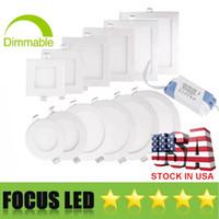 EU Stock ultrafinos 9W 12W 15W 18W 23W LED Luzes do painel SMD2835 Downlight AC110-240V fixação de teto Down Light Quente / Frio / Natural 4000K Branco