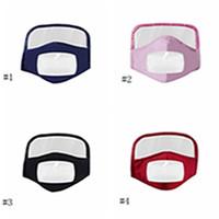 Mask Face Shield Neue reine Baumwolle Visuelle Schablonen-Gesichtsmaske Erwachsene Transparent Schutzgesichtsmasken Baumwolle Reitbreath Masken EEA1789