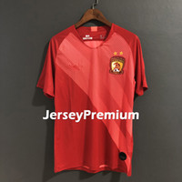 Guangzhou Evergrande Taobao Home Football Soccer Jerseys Red...