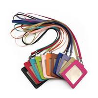 Новая шейка ландшафта PU кожаный держатель карты ID CARD CARD CARD CARD CARD с ремешком Cred Cred Card Bank Card Holder Holder Ranyard