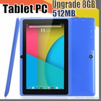 20X 7 Zoll kapazitiver Allwinner A33 Quad Core Android 4.4 Dual-Kamera Tablet PC Upgrade 8 GB 512 MB WiFi EPAD Youtube Facebook Google A-7PB