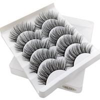 5 Paires 3D Vison Faux Cils Main Bande Complète Cils Naturels Extension Kit de Maquillage Doux 7 Style PPA395
