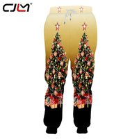 CJLM Man New Style personnalité colorée Pantalon Tendance 3D Printed Christmas Tree Grande Taille sport simple d'homme Sweatpants