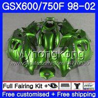 Corps pour SUZUKI GSXF 750 600 GSXF750 vert clair: 1998 1999 2000 2001 2002 292HM.68 GSX 600F 750F KATANA GSXF600 98 99 00 01 02 Carénage