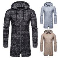 Nuovo modo uomini felpe con cappuccio autunno Felpe solido di modo del 2018 Hip hop stile Streetwear maglieria maschile Felpa cappotti Maschio di Natale