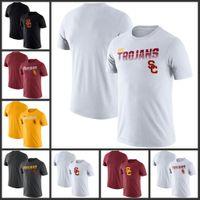 USC Trojans línea lateral leyenda Rendimiento camisetas de manga corta impresa O-Cuello T Escuela de Fútbol Los deportes de equipo camisetas