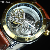 gift business Gold Tourbillon Automatic Mechanical Watch Men...