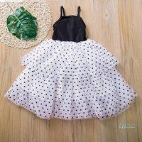 Kızlar Elbiseler Bebek Örgü Gazlı Bez Dantel Nokta Baskı Pettiskirt Kız Etek Prenses Elbise Yaz Parti Etekler Balo 80-120 cm CZ430
