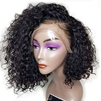Pre Plucked Deep Curly BOB Style Lace Front Human Hair Wigs ...