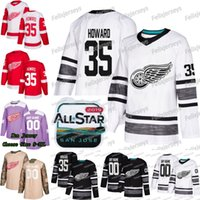 35 Jimmy Howard 2019 All Star Detroit Red Wings Gustav Nyquist Andreas Athanasiou Tyler Bertuzzi Frans Nielsen Larkin Anthony Mantha Jersey