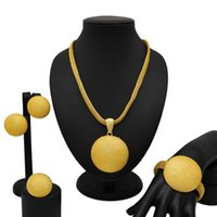K store african jewelry sets super gold earrings big Medals ...