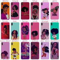 Inspirational Melanin Poppin Aba Custodia morbida per cellulare in silicone per IPhone XS Max 6 7 8 Plus 5 SE Moda nera Custodia per ragazza per IPhone Coque 7