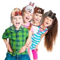 US Ship Kids Cartoon Face Shield Säkerhet Barn Protective Mask Cover Anti-Fog Anti-UV Transpartent Facial Mask för Boys Girls