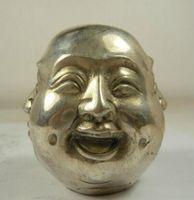 تحصيل قديم اليدوى النحاس silvered 4 وجوه العاطفة بوذا تمثال CP43H52 بالجملة رخيصة التبت فضة النحاس