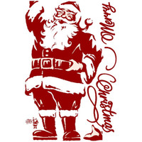 Merry christmas wall stickers santa claus wall decals Remova...