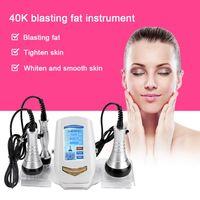 Novo botão Touch Control Ultrasonic 40KHz cavitação e Multipolar face RF Corpo beleza máquina Fat Burner Weight corpo perder