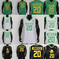 NCAA 20 Sabrina Ionescu Jersey Oregon Enten Basketball-Trikots Weiß Grün Schwarz Gelb genäht