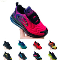NIKE AIR MAX 720 2019 Çocuklar Atletik tasarımcı Ayakkabı Çocuk Basketbol Ayakkabı Kurt Gri 72 s Toddler Spor Sneakers Boy Kız Toddler Chaussures Enfant Dökün