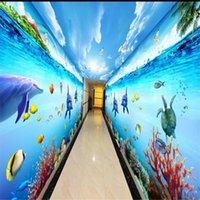 3d maßgeschneiderte Tapete schöne Landschaft Tapeten Fantasie dreidimensionale Unterwasser Tapeten Hintergrund Wand Thema Raum