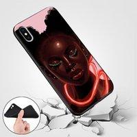 Custodia morbida Coque Per iphonePhone 11 Pro MAX X XR XS MAX 8 7 Plus 6 6s Inoltre 5S SE copertura Shell regina afro melanina Poppin Caso Black Girl