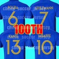 951424004597b Camiseta de fútbol de Francia 2019 100 aniversario MBAPPE GRIEZMANN POGBA 2  estrellas Camisetas de fútbol