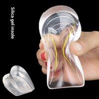 Мульти-размер 3D мягкие и удобные нескользящие силиконовые увеличенные стельки для мужчин и женщин прозрачные невидимые и бархатные половинки