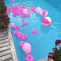 Luftmatratzen für Tasse Aufblasbare Flamingo Getränke Getränkehalter Pool Floats Bar Untersetzer Floatation Devices Pink