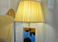 أدى القراءة السرير مصباح طاولة خشب الإضاءة خشبية راتنجات الايبوكسي قاعدة الإضاءة المحيطات الزرقاء ديكور المنزل غرفة العالم
