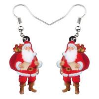 Baumel kronleuchter acryl weihnachten geschenk tasche santa claus ohrringe fall kostüme dekoration schmuck für frauen mädchen charms bijoux