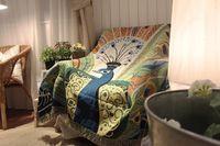 أفضل الجودة البوهيمي الهندسية بطانية ماندالا البساط أريكة غطاء نسيج رمي منشفة الفراش ورقة بالغين أطفال السفر المنزل cobija cobertor