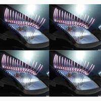 Kolor 3D Motoryzacyjne Rzęsy Naklejki Wedding Parade Street Car Lights False Eyelashes Naklejki