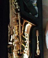 Taiwan JUPITER JAS-567 Alto Mib Tune Sassofono oro lacca Sax con il caso Bocchino di trasporto professionale