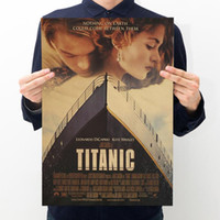 Titanic Classic Movie Poster Kraft Paper Bar Cafe Poster Ret...