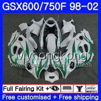 Corps Pour SUZUKI GSXF 750 600 GSXF750 1998 1999 2000 2001 2002 Flammes vertes chaudes 292HM.40 GSX 600F 750F KATANA GSXF600 98 99 00 01 02 Carénage