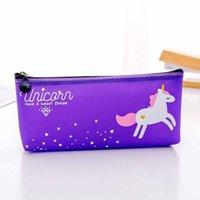 Cartoon Unicorn Crayon cas Zipper pencile Big Bag pour les filles enfants cadeau grand bureau cas Fournitures pour l'école